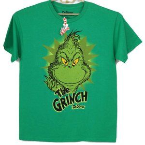 Dr Seuss The Grinch T-Shirt Large Green